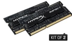 Пам'ять до ноутбука Kingston DDR3 1600 16GB KIT (8GBx2) SO-DIMM 1.35V HyperX Impact