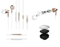 Навушники 1MORE 1M301 Piston Earphone In-Ear Mic White Gold